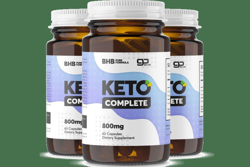 Bouteilles contenant les gélules de Keto Complete